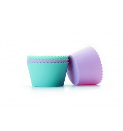 4 Moldes Cupcake Silicona de Ibili