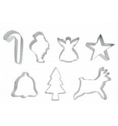 Set 7 Cortapastas Navidad Estañados de Ibili