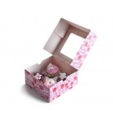 Caja Para 4 Cupcakes de Ibili