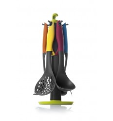 Set 6 Utensilios + Soporte Colorful de Ibili