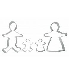 Set 4 Cortapastas Familia Estañados de Ibili