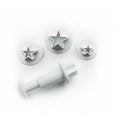 Set 3 Cortadores Con Expulsor Estrella de Ibili