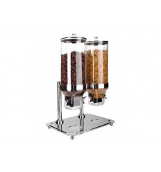 Dispensador doble de cereales con base de lacor