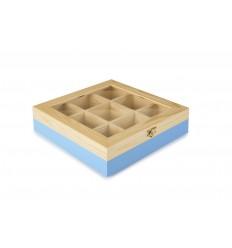 Caja De Te 9 Compartimentos Azul de Ibili
