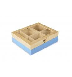 Caja De Te 6 Compartimentos Azul de Ibili