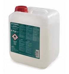 Cubo de gel combustible etanol 4 kg. de Lacor