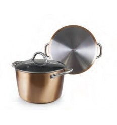 Olla con tapa natura copper de ibili