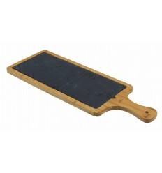 Tabla de pizarra y bambú rectangular de Lacor