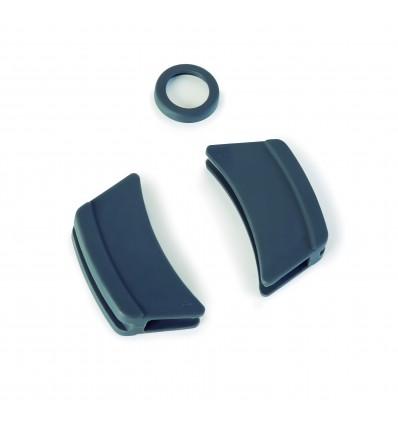 Manoplas de silicona gris de Lacor