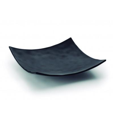 Fuente cuadrada melamina serie Black de Lacor
