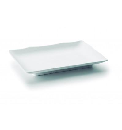 Fuente rectangular melamina serie White de Lacor