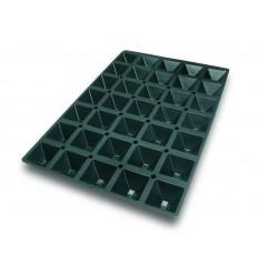 Molde silicona 60x40 cm pir?mide 65x65x35 mm de lacor