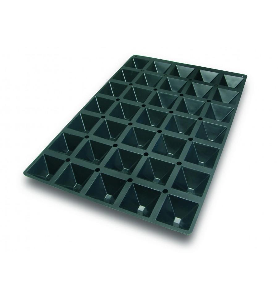 Molde Silicona piramide 6 cavidades Lacor 66822