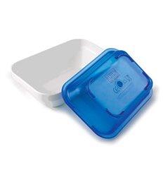Fuente rectangular policarbonato blanco con tapa azul de Lacor