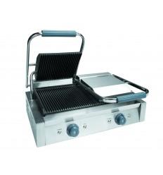 Plancha doble grill acanalada 4.4 kw. de lacor