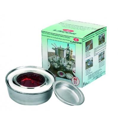 Pack 3 latas combustible fondue 80 grs de lacor