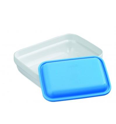 Bol rectangular policarbonato con tapa de lacor