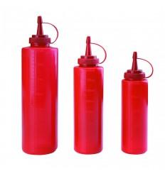Botella biberón roja de Lacor