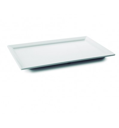 Bandeja rectangular White melamina serie Classic de Lacor