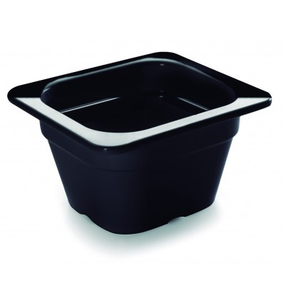 Cubeta negra melamina gastronorm 1/6 de Lacor