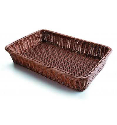 Cesta de pan rectangular marrón de Lacor