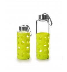 Botella Cristal/Silicona Lake Verde de Ibili