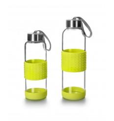 Botella Cristal/Silicona Sky Verde de Ibili