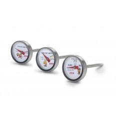 Set 3 Termometros Horno (Carne/Aves/Patata) de Ibili